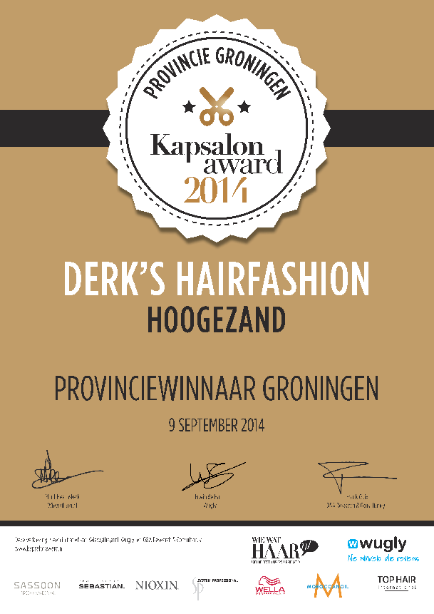 Kapsalon Award 2014 | Derk